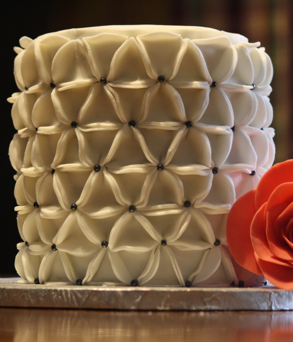 Floral Origami Cake Created From Fondant Circles Which Are...