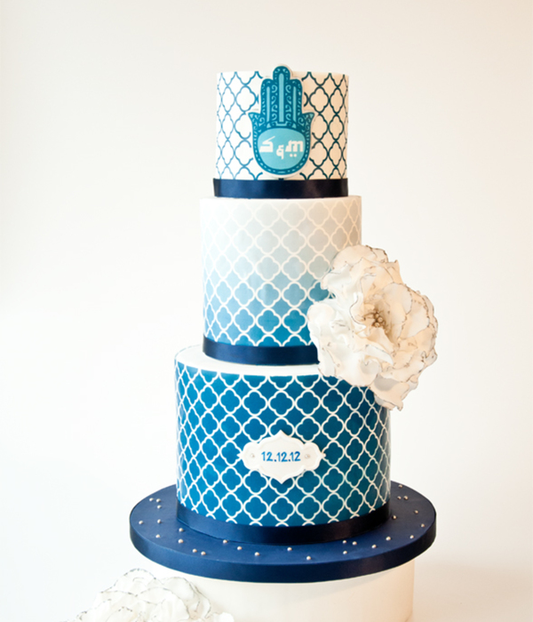 Turkish Tiles Inpsired Wedding Cake
