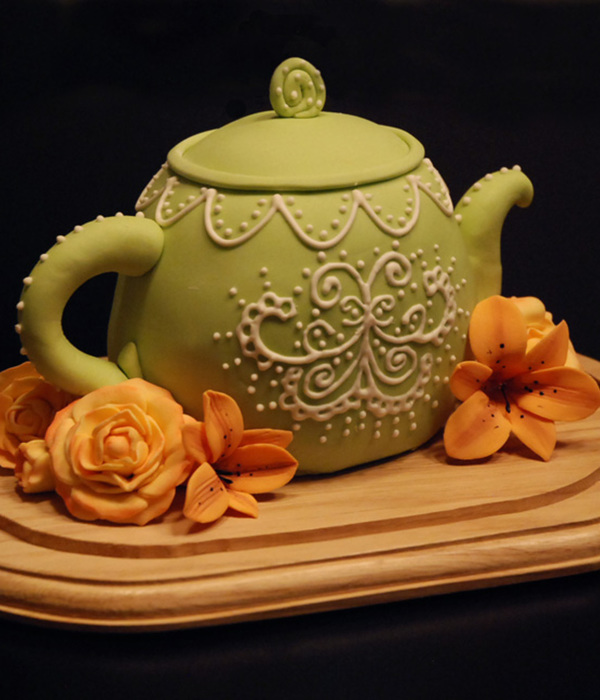 Teapot And Flowers