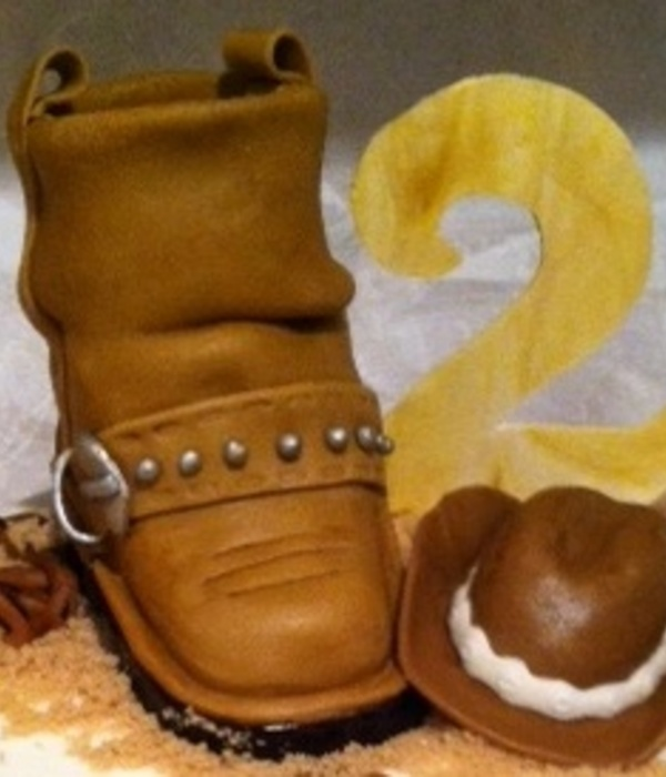 Rice Krispie Treat Toddler Boot And Hat Gum Paste 2 Sagging...