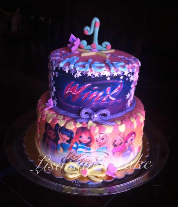 Winx Faires Chocolate Cake With Nutella Filling And...