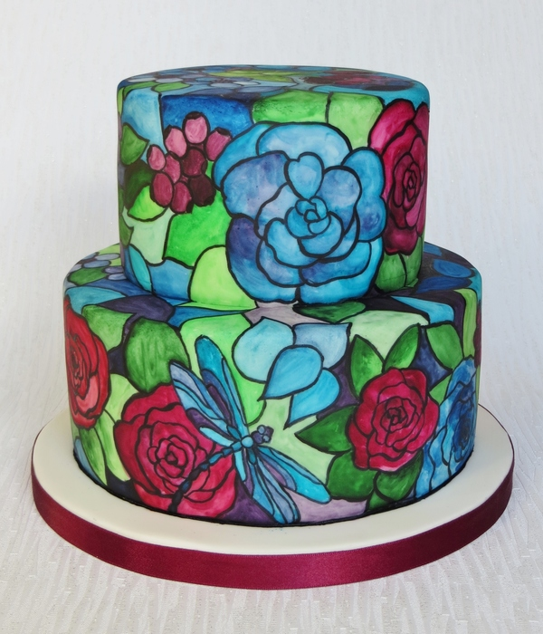 Tiffany Style Stained Glass Cake