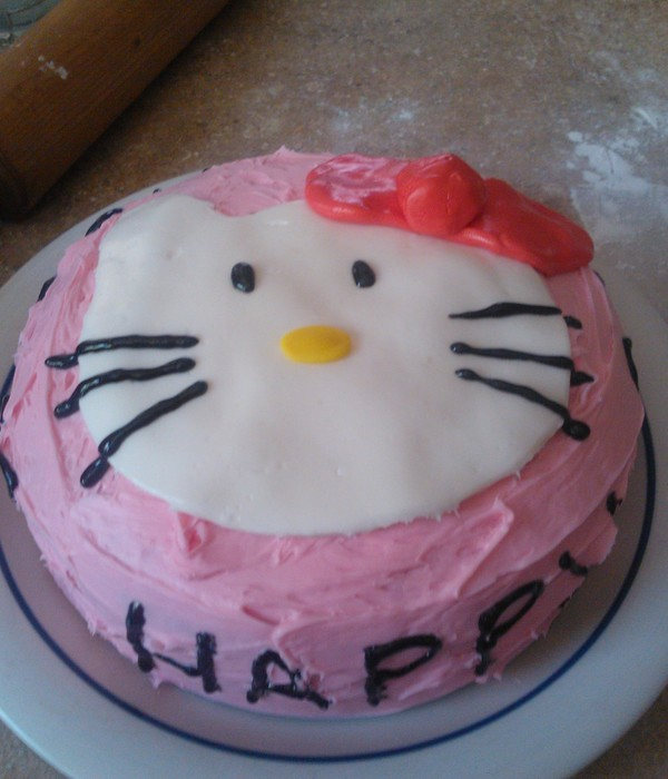 Hello Kitty Birthday Cake For My Daughters Husband And I Created This Only Our Second Time Of Making A Together