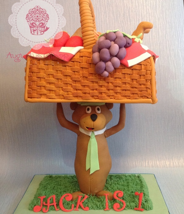 Yogi Bear Picnic Basket Birthday Cake