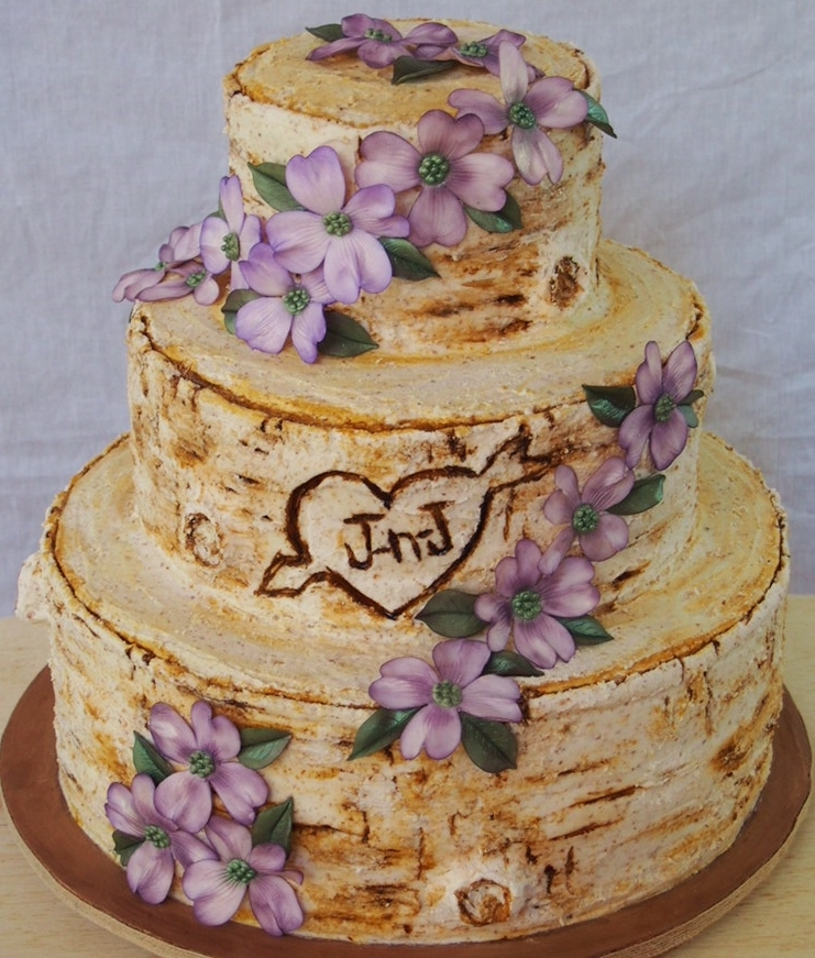 how to make a cake look like tree bark