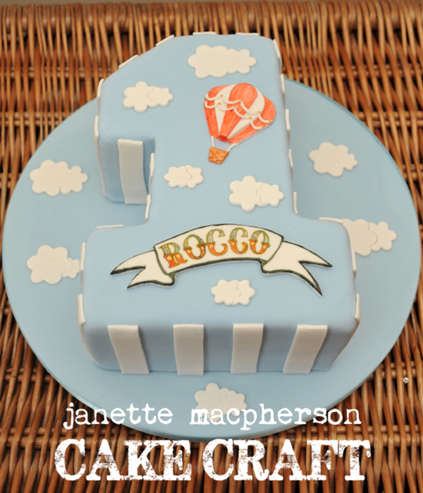 Vintage Hot Air Balloon Cake Boys First Birthday Hand Painted Name Plaque Photography By Scott Ireland Photography