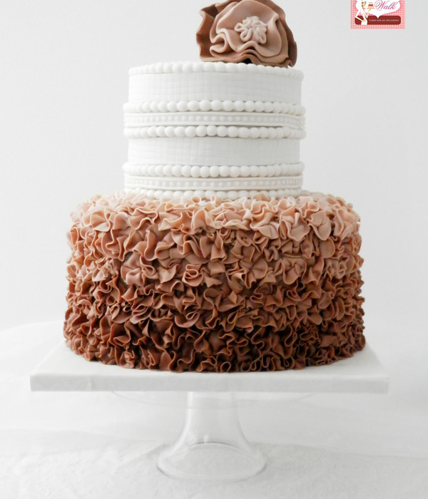 Ruffles Wedding Cake