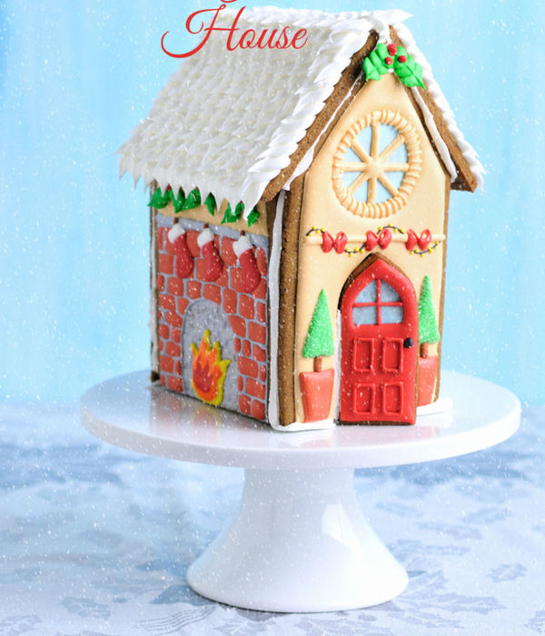 Gingerbread House For Christmas Link For The Tutorial In The Comment Box