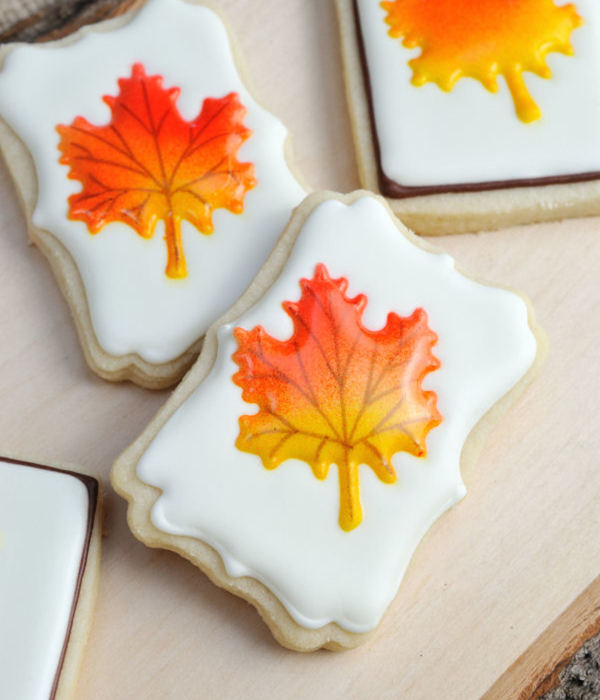 Colorful Fall Leaf Cookies