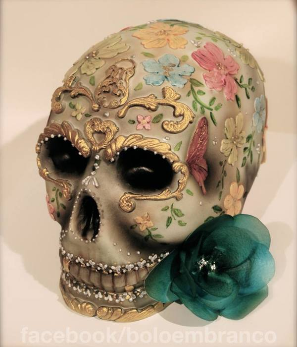 Edible Sugar Skull Cake Topper