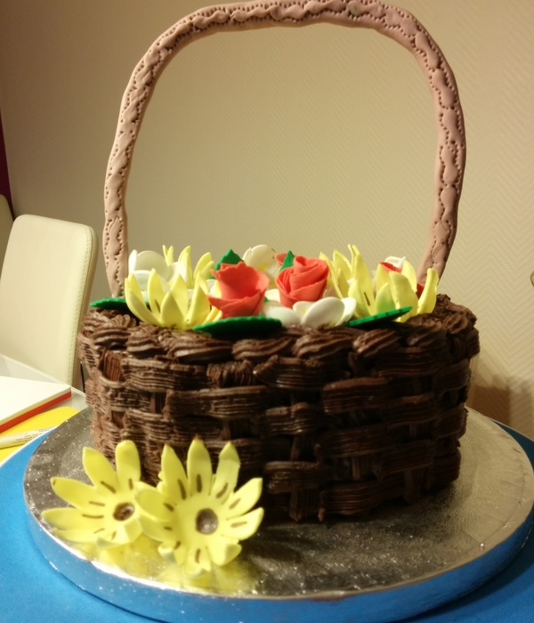 This Is My First Attempt To Make A Basket Cake Cake Is...