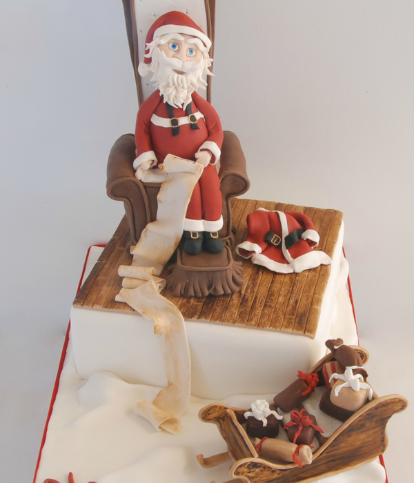 Santa Claus Cake Santa Face Is All In Modeling Chocolate