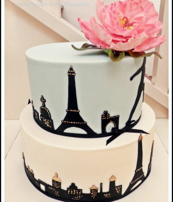 A Paris Themed Cake Made For A Beautiful Friends Birthday Celebrations