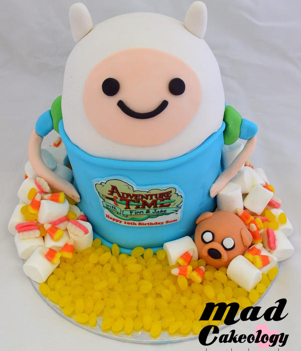 Adventuretime With Finn & Jake Birthday Cake