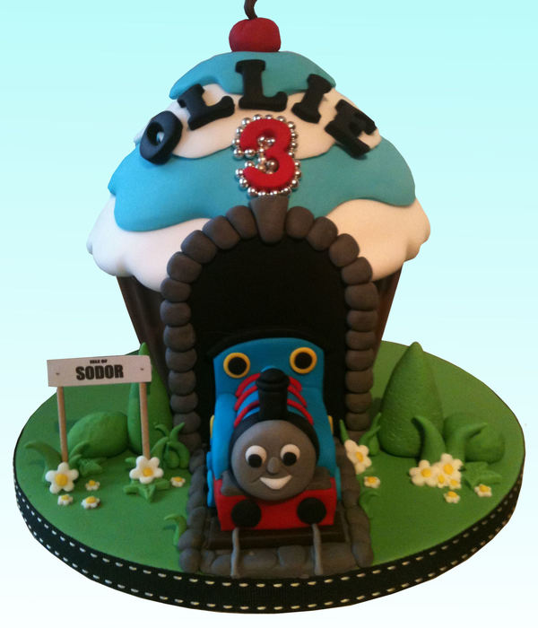 Thomas The Tank Engine Giant Cupcake