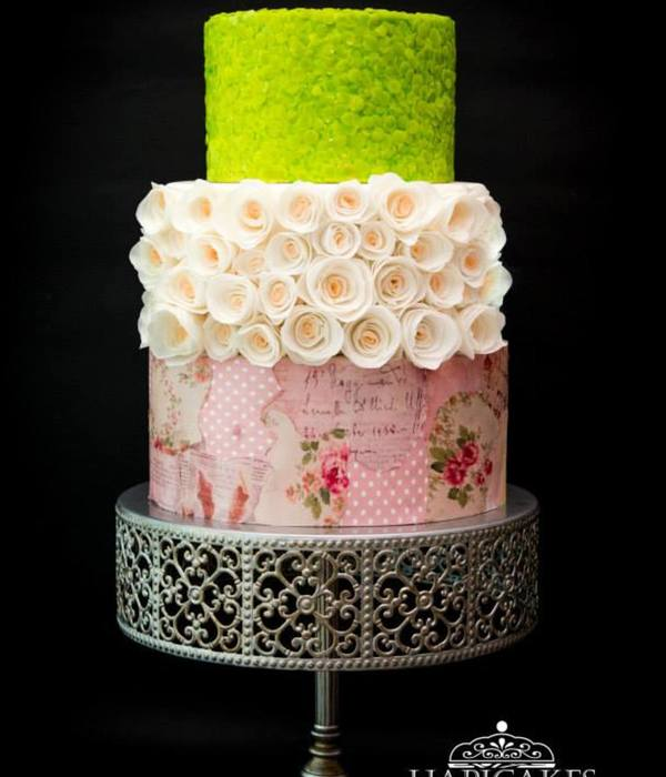 Sequin Decoupage Cake