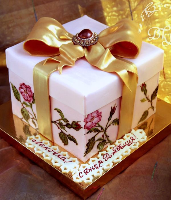 Top gift box cakes cakecentral cake gift box negle Image collections
