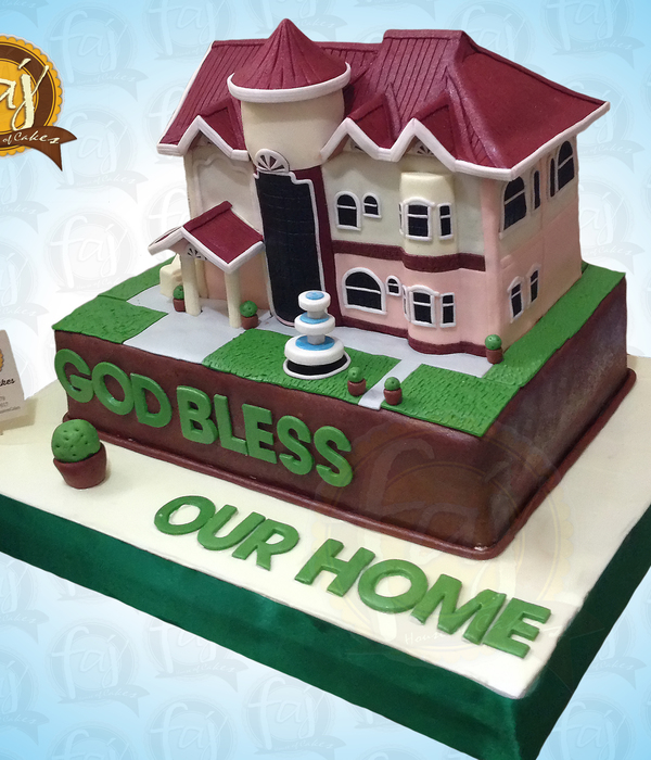 3D House Cake By Faj Custom Cakes