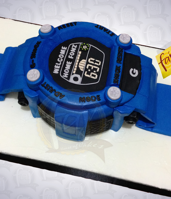 3D G Shock Watch Cake By Faj Custom Cakes Gshock Themecakes...