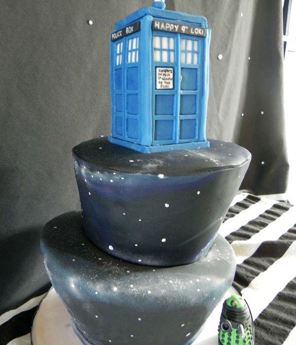 Dr Who-Inspired With Tardis, Dalek