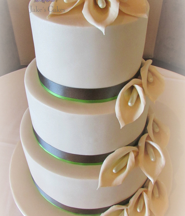Calla Lily Wedding Cake Sugar Flowers Made By Me