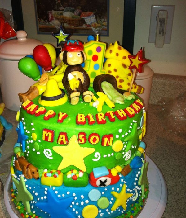 This Cake Is A Curious George And The Man With The Yellow...