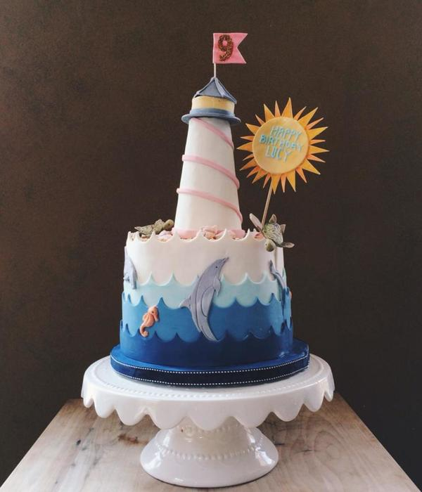 Ocean Themed 9Th Birthday Cake