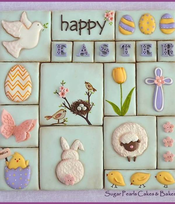 Easter Cookie Collage