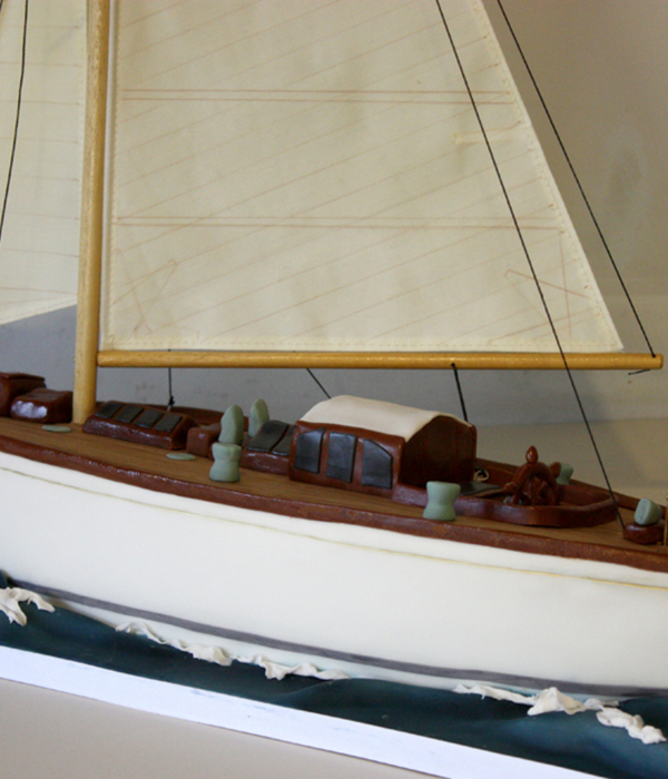 A 2 Ft Chocolate Cake Model Of A Vintage Fife Yacht For A...