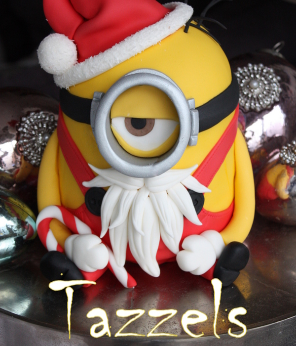 A Santa Minion My Christmascake For 2013 Made As An Example For A Workshop And Inspiration For The Customers Who Visit My Shop In Holland