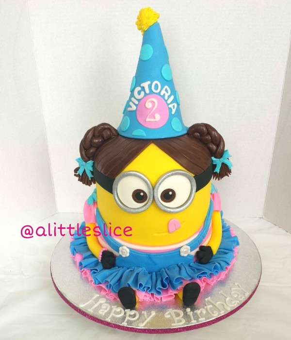 3D Girl Minion Cake For 2 Year Old Victoria Feeds 40 People Made By Christina Pagan Amp Yesenia Figueroa Find This Cake And More On