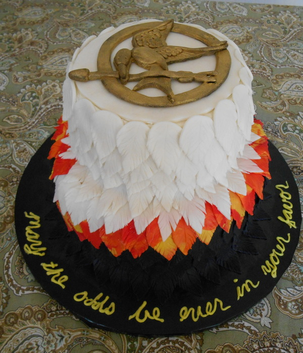 Hunger Games Wedding Dress Cake