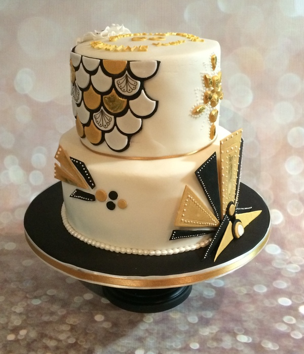 Art Deco Gold & Black