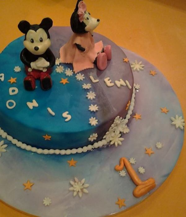 Mickey And Minnie Cake For Twins