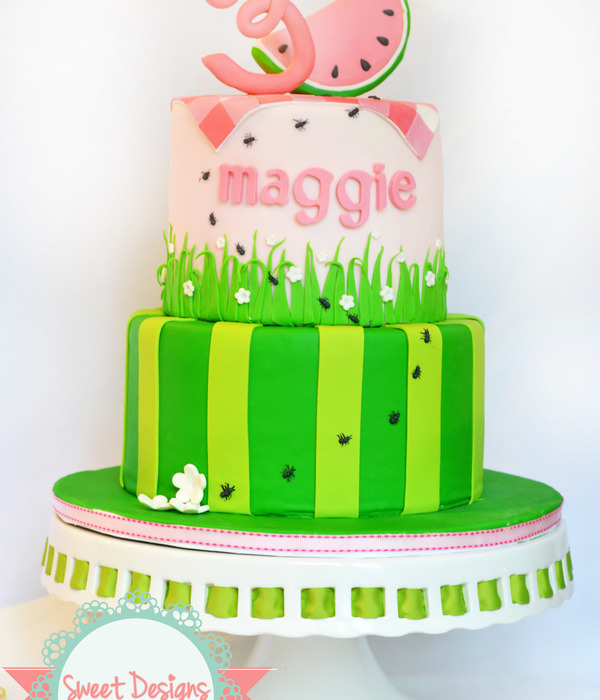 Watermelon Lmf Fondant Birthday Cake