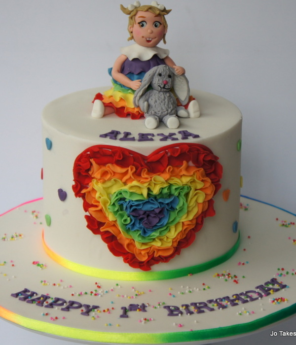 Rainbow Ruffle Heart