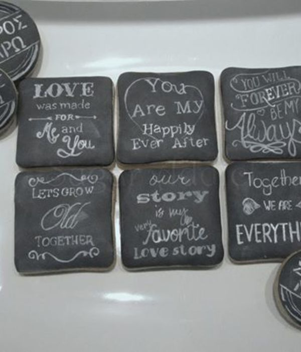 Chalkboard Wedding Cookies