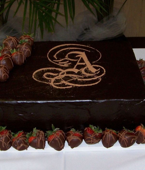 Monogram And Strawberries