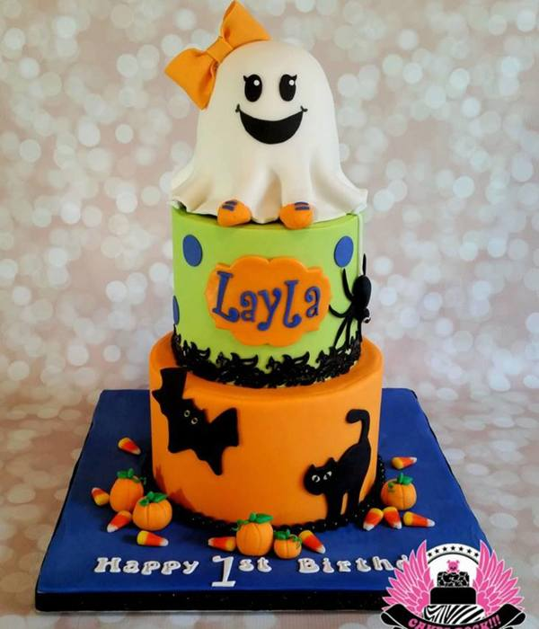 Ghost First Birthday Cake