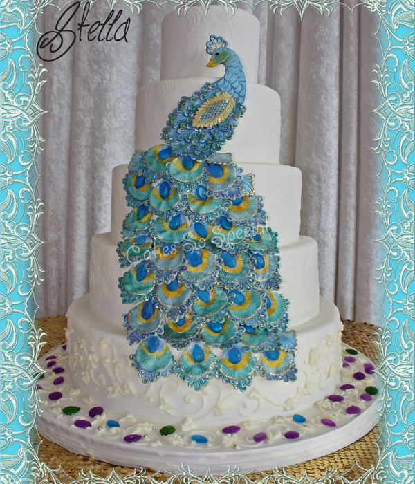 Peacock Feather Wedding Cake: Inspiring Peacock Cakes Collection