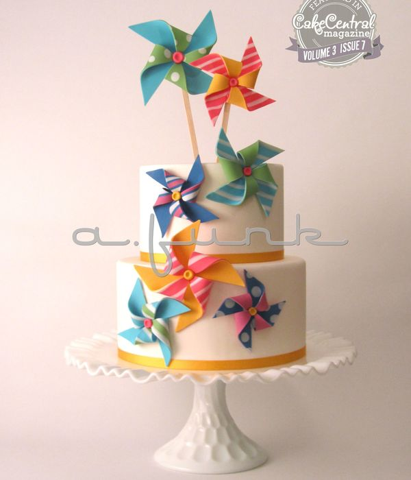 Pinwheel Cake For Cake Central Magazine