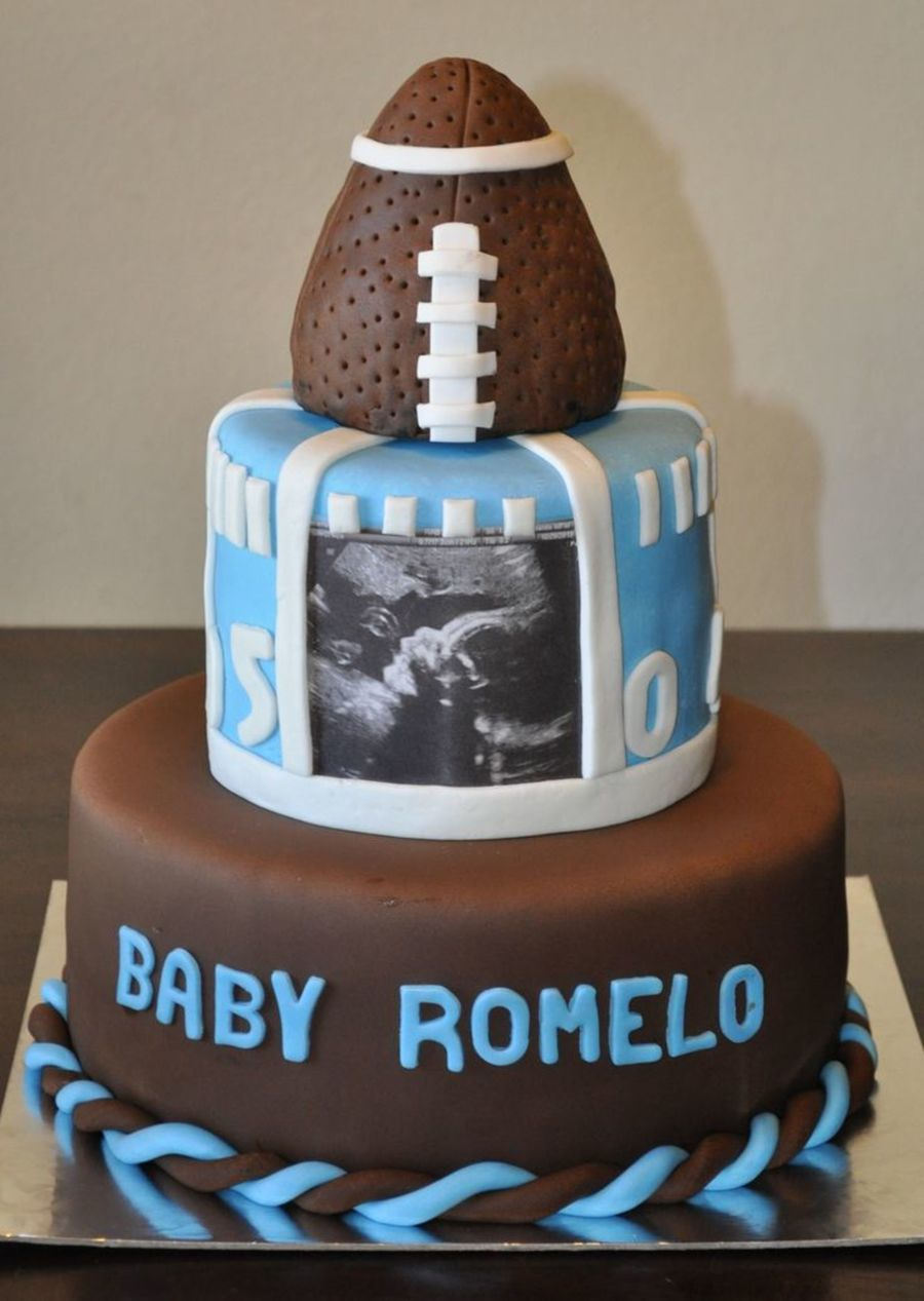 Football Baby Shower Cake On Cake Central