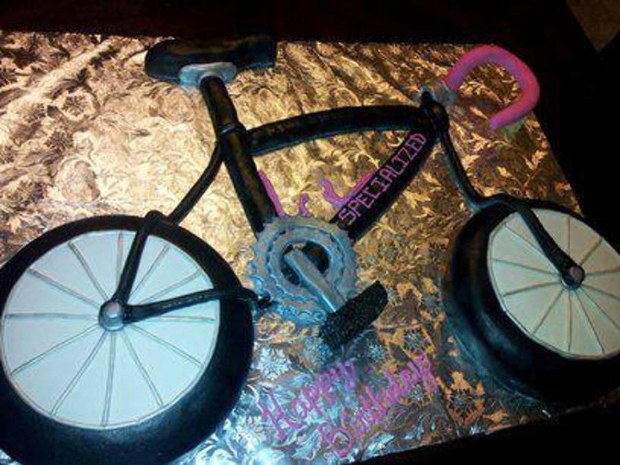 Bicycle Cake Made To Look Like Birthday Girls Real Bike