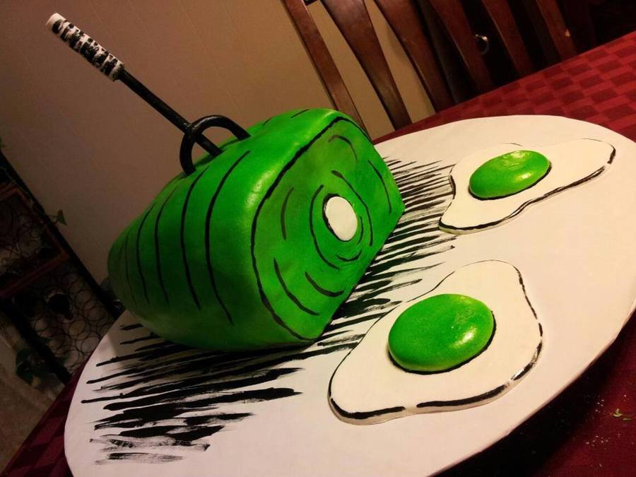 Green Eggs And Ham Cake - CakeCentral.com