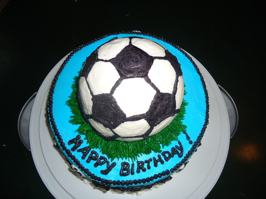 Soccer Ball Icing Decorations Simple Soccer Ball Birthday Cake  Cakecentral Review