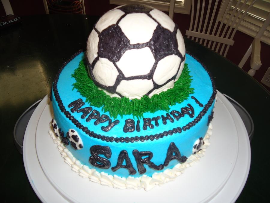 Wondrous Soccer Ball Birthday Cake Cakecentral Com Funny Birthday Cards Online Overcheapnameinfo