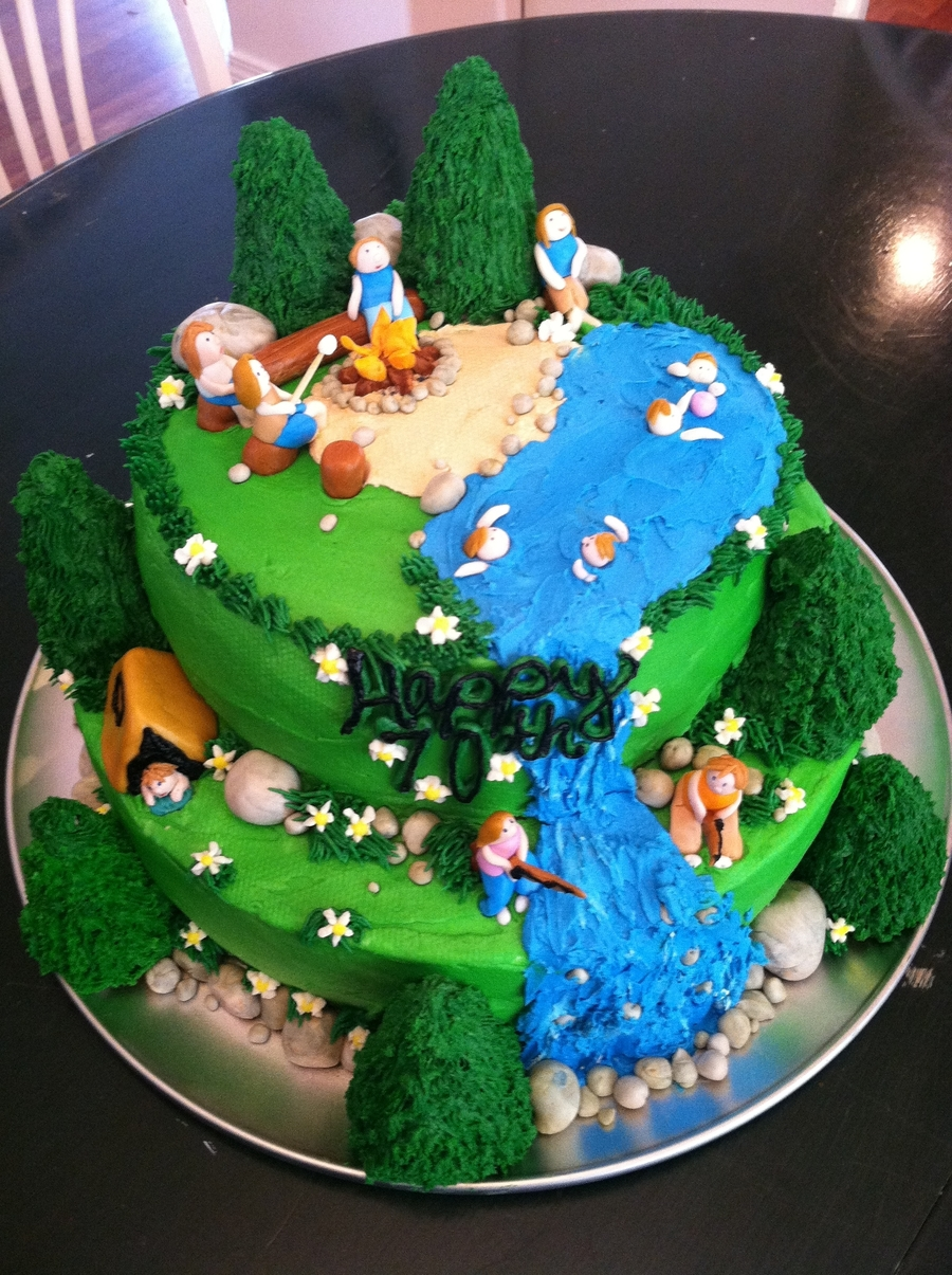Camping Party Cake Ideas