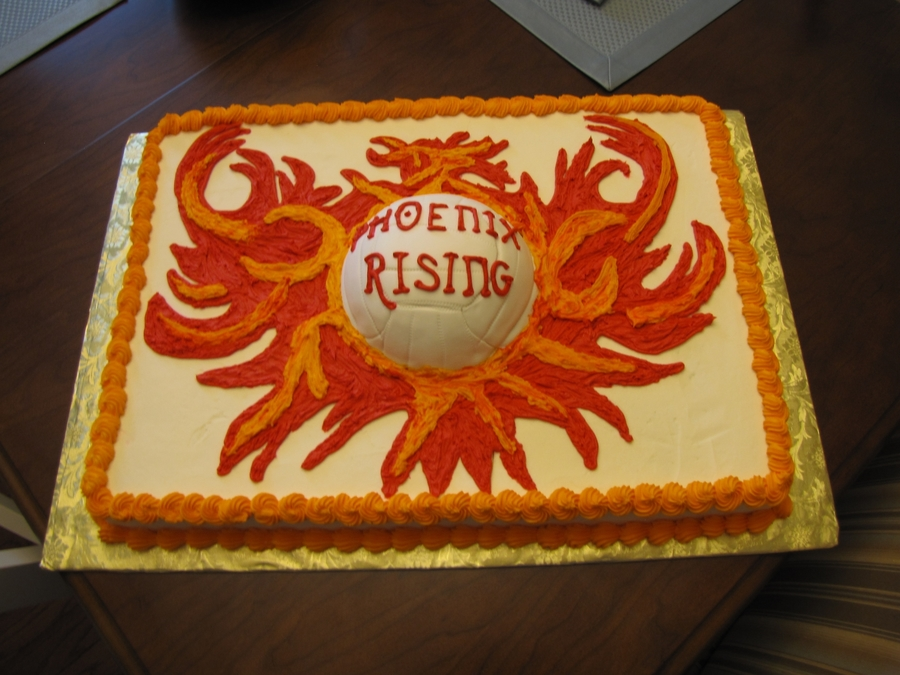 Phoenix Rising Volleyball Cake on Cake Central