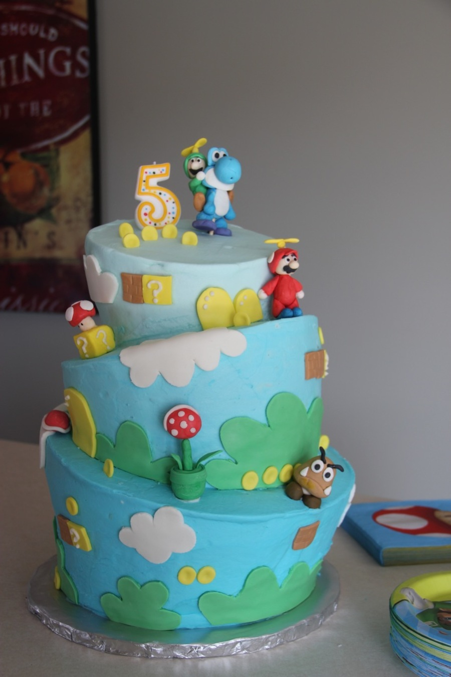 Enjoyable Luigi Birthday Cake Cakecentral Com Funny Birthday Cards Online Unhofree Goldxyz