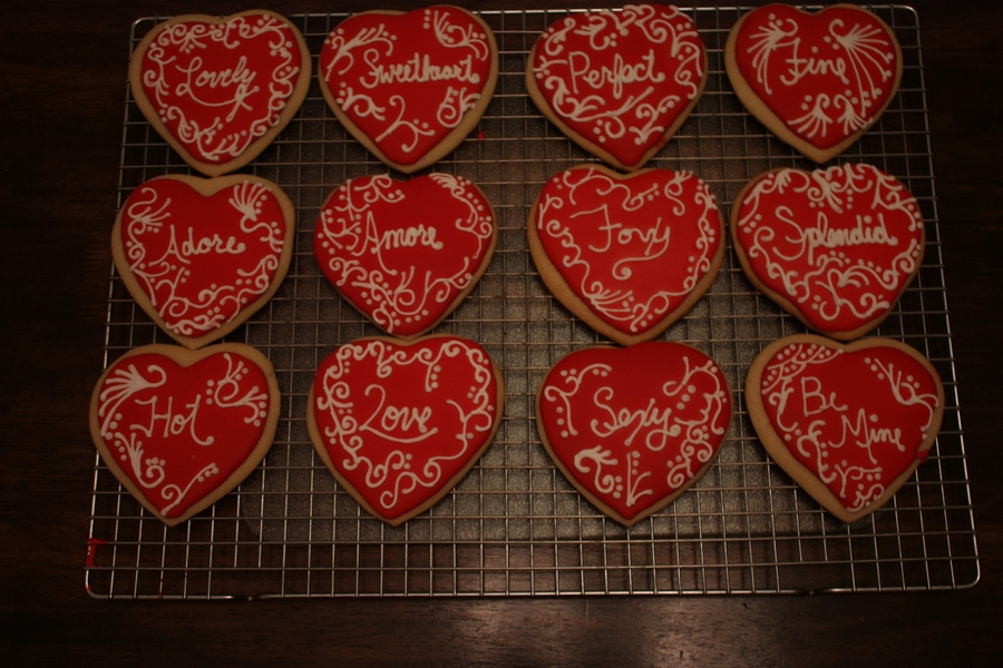Large Heart Cookies on Cake Central